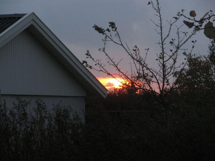 ... og nyde det sidste glimt af solen